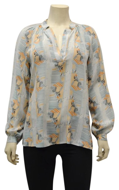 Preload https://img-static.tradesy.com/item/22149917/tucker-sea-foampeach-blouse-size-12-l-0-1-650-650.jpg