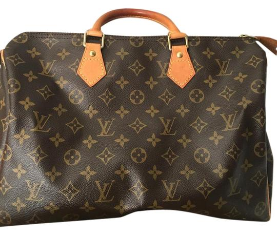 Louis Vuitton Lv 35 Speedy Good Condition Tote in Monogram Image 0