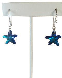 Crystal Creations Swarovski Crystal Starfish Earrings