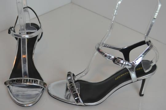 Rebecca Minkoff Studded Leather Silver Sandals