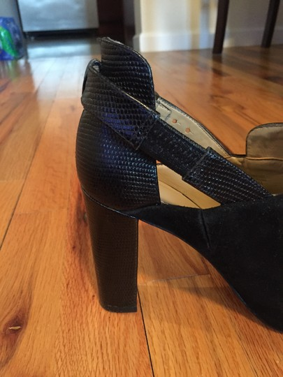 Ann Taylor Suede Leather Black Boots