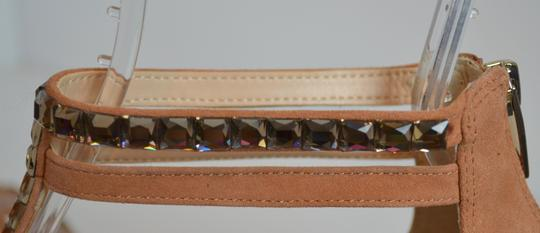 Vince Camuto Studded Leather Suede Zippers Dusty Pink Sandals