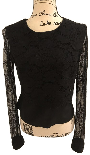Preload https://img-static.tradesy.com/item/22150700/bailey-44-black-lace-and-silk-long-sleeve-blouse-size-6-s-0-3-650-650.jpg