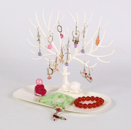 no brand Jewelry Necklace Earring Deer Stand Display Organizer Holder Show Rack
