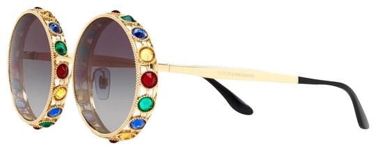 Preload https://img-static.tradesy.com/item/22150771/dolce-and-gabbana-gold-multi-crystals-embelish-round-oversized-sunglasses-0-1-540-540.jpg
