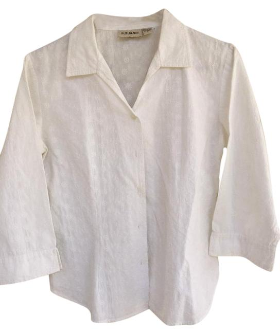 Preload https://img-static.tradesy.com/item/22151169/white-cotton-embroidered-34-blouse-button-down-top-size-8-m-0-1-650-650.jpg