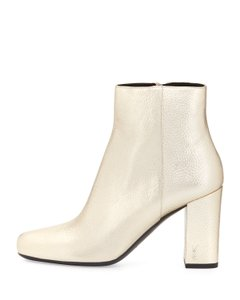 Saint Laurent Ysl Babies Gold Platino Boots