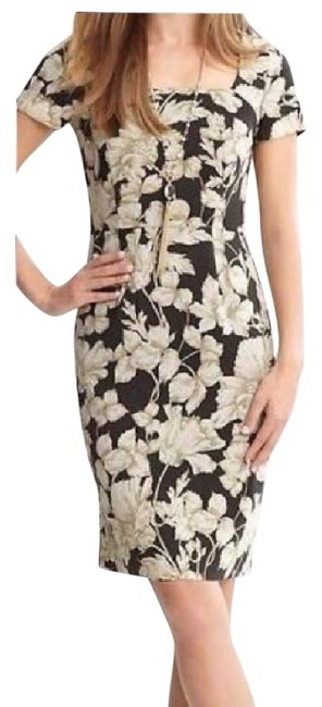 Item - Charcoal and Tan Sophia Mid-length Work/Office Dress Size 2 (XS)