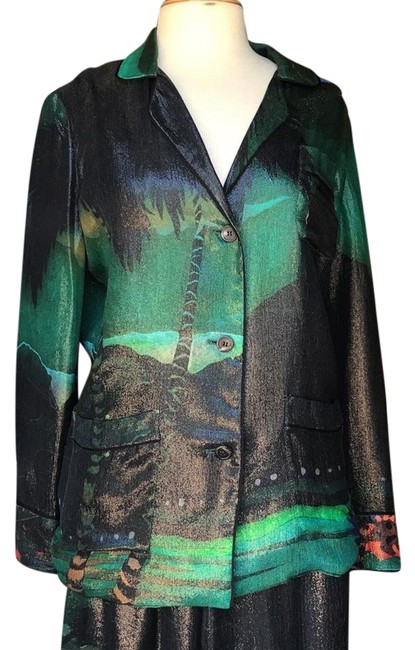 Preload https://img-static.tradesy.com/item/22151484/lanvin-greenmulti-button-up-blouse-button-down-top-size-8-m-0-1-650-650.jpg