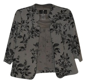 8a7a3692aaaf1 Alex Evenings Glitter Open Front Mock Top Black Taupe