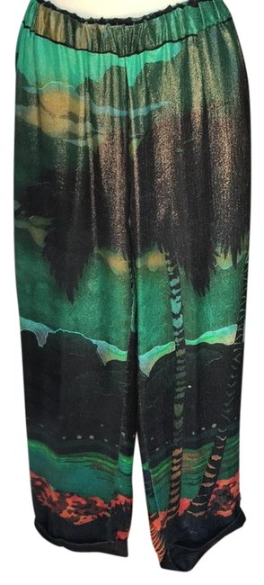 Preload https://img-static.tradesy.com/item/22151524/lanvin-greenmulti-coated-pant-trouserwide-leg-jeans-size-32-8-m-0-1-650-650.jpg
