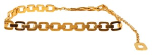 St. John St. John Gold Tone Chain Link Adjustable Necklace Fashion Belt.
