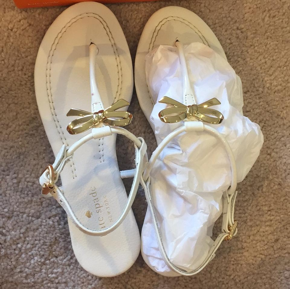 White Kate Tracie Gold and Sandals Spade 6pwwqB