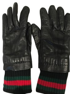 Gucci Gucci Cashmere Lined Leather Gloves