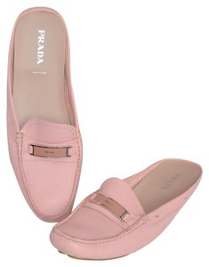 Prada Leather Open Back Pink Mules