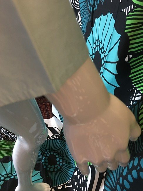 Gap Cotton Peasant Tropical Side Slits 3/4 Sleeves Top Light blue