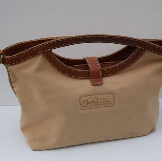 Fossil Tote in beige/brown
