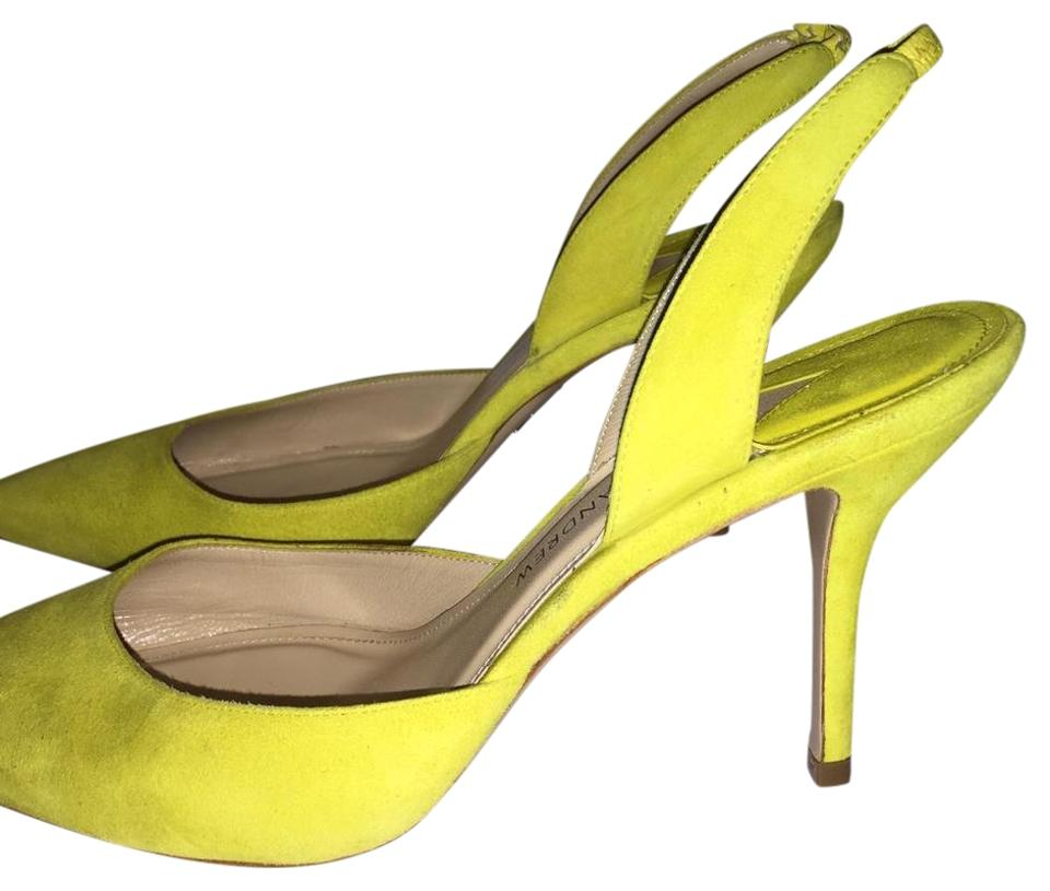 f928e9b9b58 Paul Andrew Green Passion Neon Suede Heels 37 Pumps Size US 6.5 ...