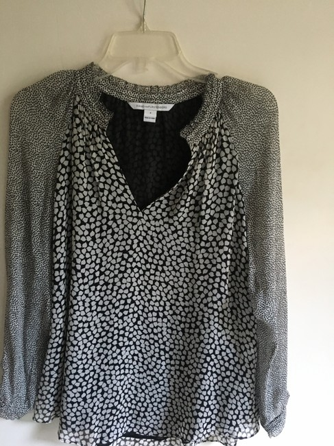 Diane von Furstenberg Top Black & White