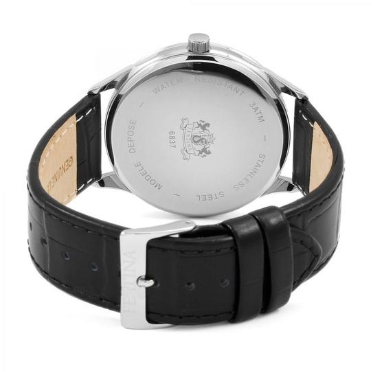 Festina F6837-2 Retro Men's Black Leather Band With Champagne Analog Dial