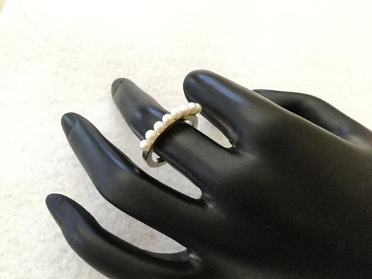 Custom Made STERLING SILVER PEARL RING SZ 6.5