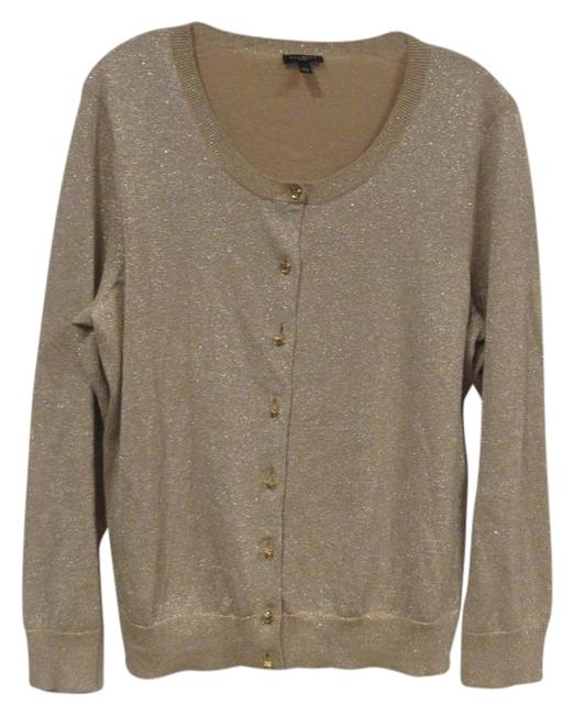 Preload https://img-static.tradesy.com/item/22152231/talbots-tan-gold-shimmer-cardigan-size-16-xl-plus-0x-0-1-650-650.jpg