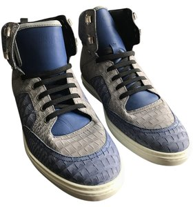 Jimmy Choo Hightop Leather Sneaker Blue/Grey Athletic