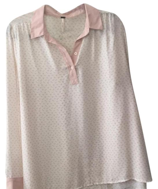 Preload https://img-static.tradesy.com/item/22152325/free-people-pink-and-white-blouse-size-12-l-0-1-650-650.jpg
