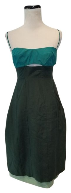 Preload https://img-static.tradesy.com/item/22152390/narciso-rodriguez-two-tone-green-colorblock-sheath-mid-length-cocktail-dress-size-2-xs-0-3-650-650.jpg