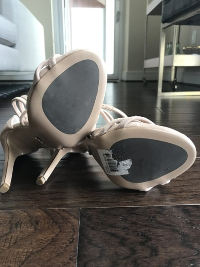 Tony Bianco Suede Nude Sandals