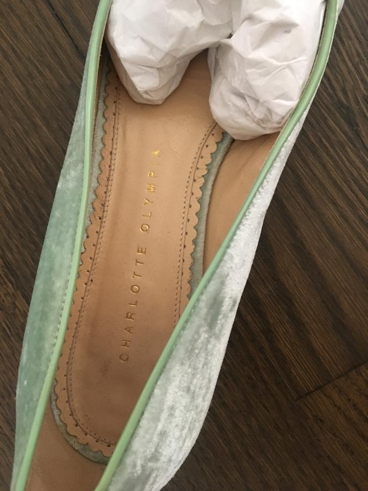 Olympia Pouty Kitty Charlotte Flats Green SRCB8q