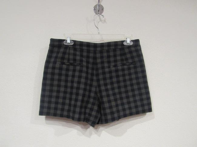 Zara Gingham Mini/Short Shorts Blue, Gray