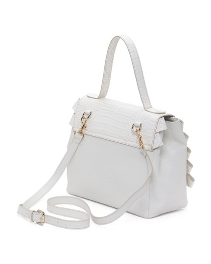 PLANET BAGS Womens Leather Tote Satchel in BEIGE