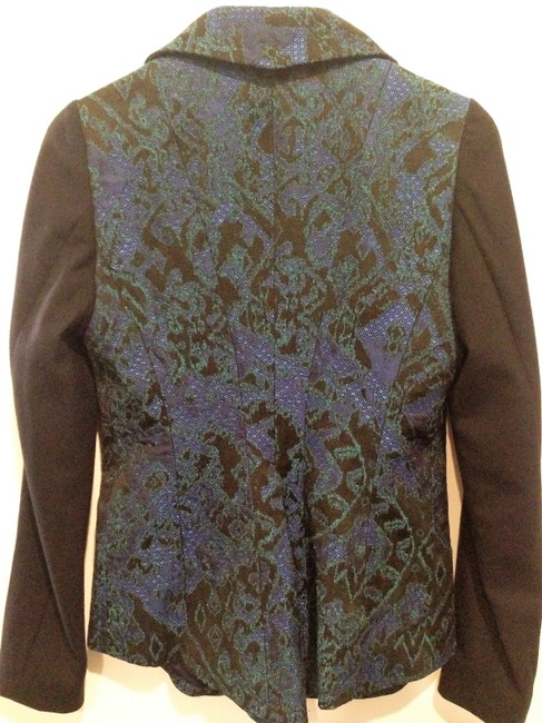 Elie Tahari Black Green Blue Blazer
