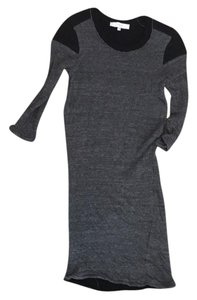 IRO short dress gray and black on Tradesy