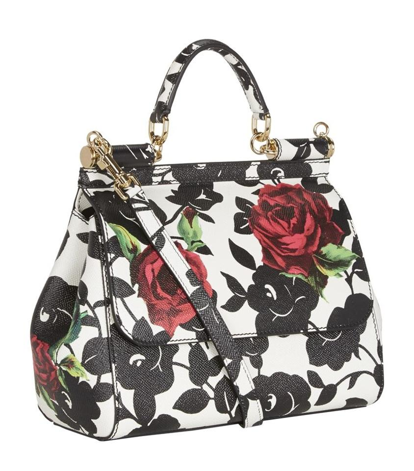 6cf696a38cfc Dolce Gabbana Miss Sicily Rose Print New Leather Tote - Tradesy