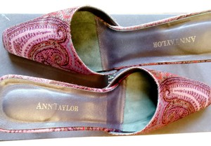 Ann Taylor Satin Mule Paisley Slide Multicolored Mules
