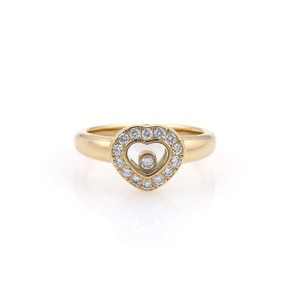 Chopard Happy Diamond 18k Yellow Gold Diamond Bezel Heart Ring