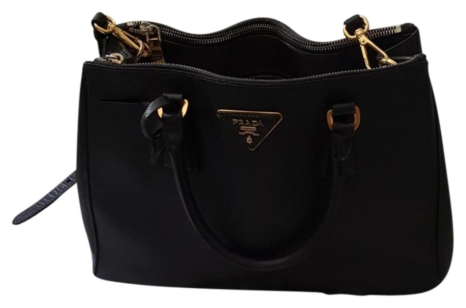 Prada Galleria Medium Saffiano Black Leather Tote - Tradesy 74737540b16d0