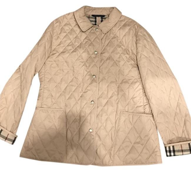 Item - Tan Constance Diamond Quilted Jacket Size 12 (L)