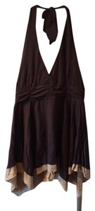 Express Brown, Tan Halter Top
