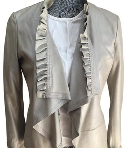 Saks Fifth Avenue grey Leather Jacket