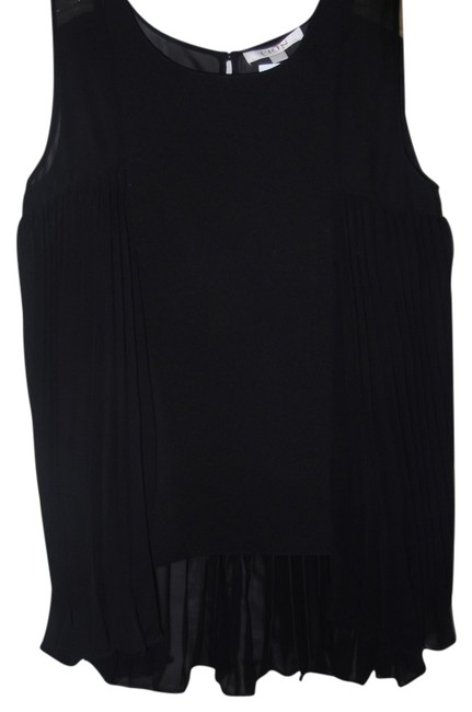 Preload https://item4.tradesy.com/images/erin-fetherston-black-paneled-pleated-tunic-size-10-m-2215353-0-0.jpg?width=400&height=650