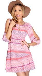 Event Blossom short dress Multi print Split Sleeve A-line on Tradesy