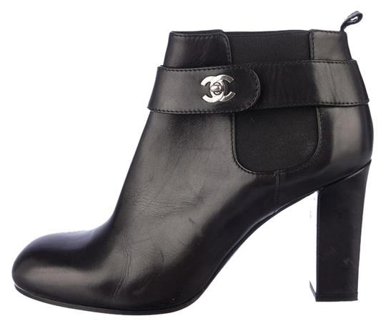 Chanel Soldout Ankleboot Black/white Boots