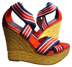 MIa NORDSTROM Spring Summer Red White & Blue Wedges