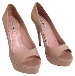 Miu Miu Light taupe/beige Platforms