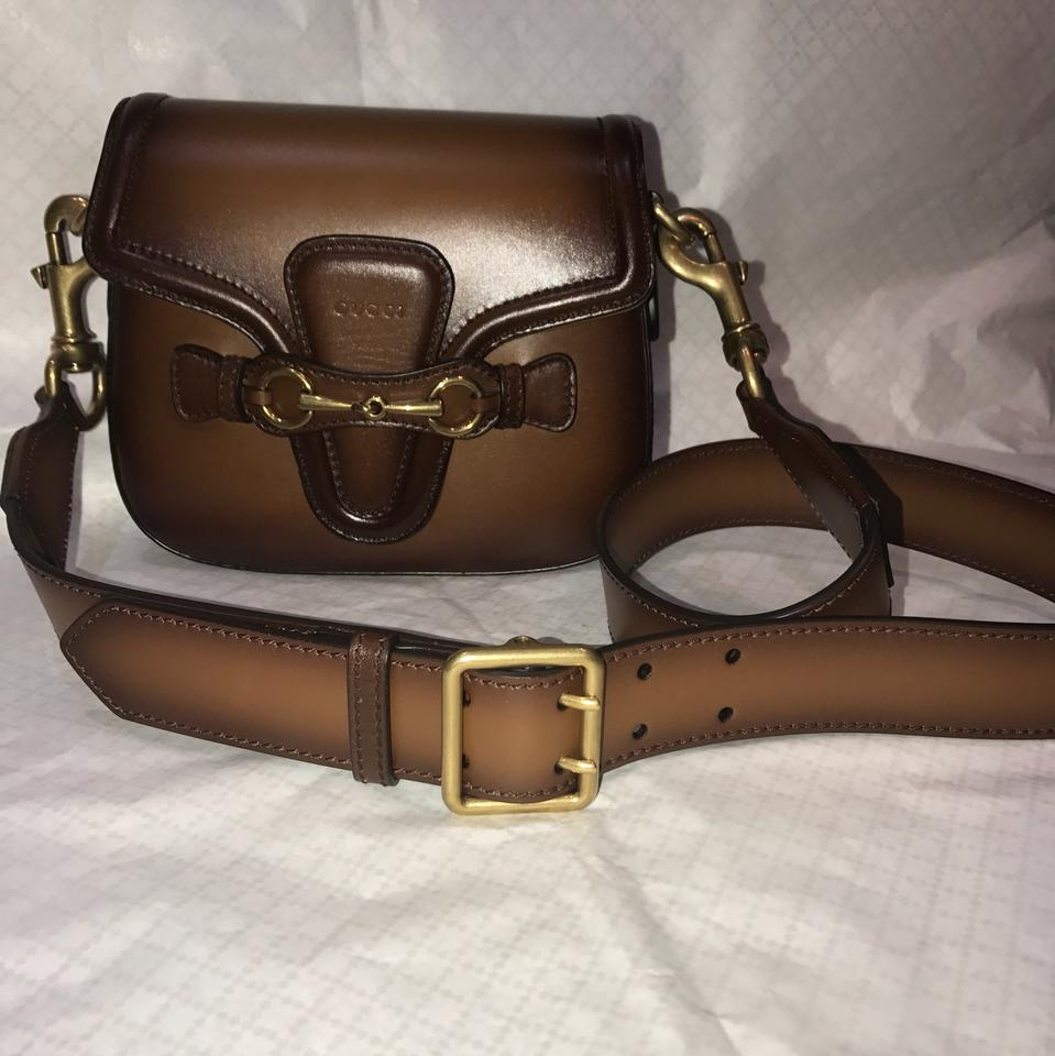 ff04744d4ea7 Gucci Lady Web ( Comes Two Straps) Brown Leather Shoulder Bag - Tradesy