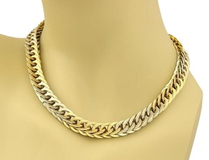 BUCCELLATI Braided 18k Two Tone Gold Curb Link Necklace 131 gr