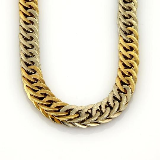 BUCCELLATI Braided 18k Two Tone Gold Curb Link Necklace 131 gr Image 2